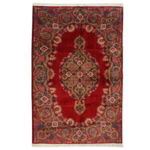 فرش قدیمی دستبافت شش و نیم متری کد 74 یک جفت