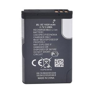 باتری موبایل مدل BL-5C ظرفیت 1020 میلی آمپر ساعت مناسب برای گوشی موبایل نوکیا 105