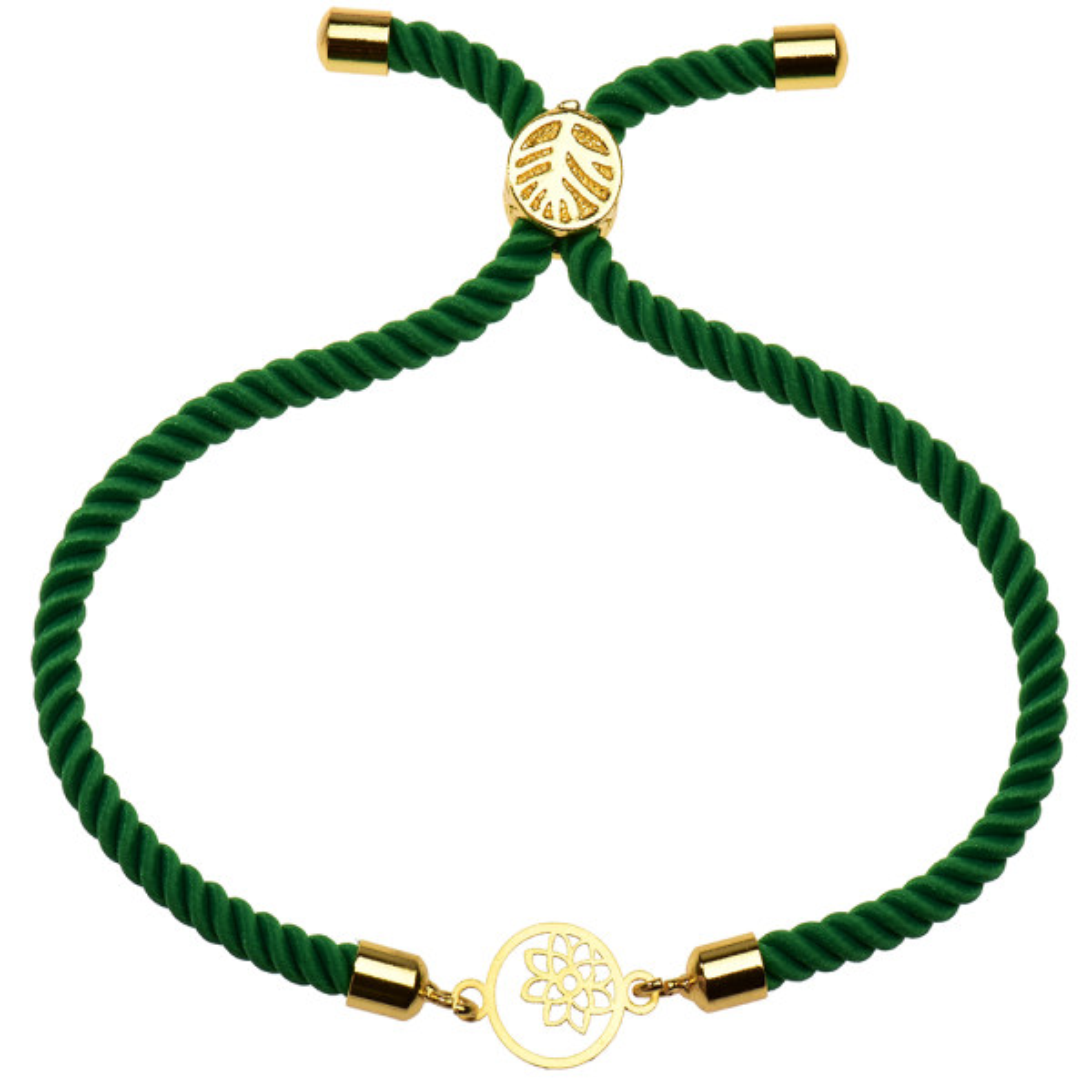 دستبند طلا 18 عیار دخترانه کرابو طرح گل و ستاره مدل Krd1140