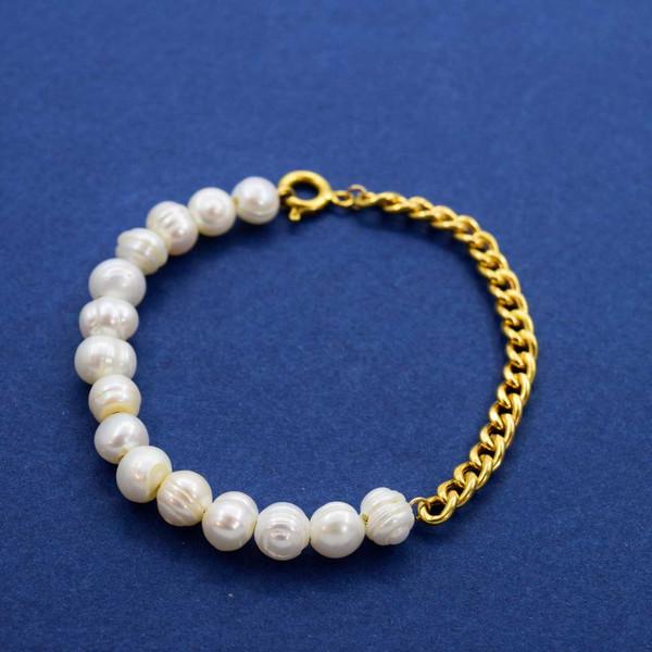 دستبند طلا 18 عیار زنانه کانیار گالری مدل B49
