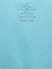 تی شرت آستین کوتاه زنانهفمیلی ورطرح دختر و پیزا کد 0162 رنگ آبی روشن -  - 5