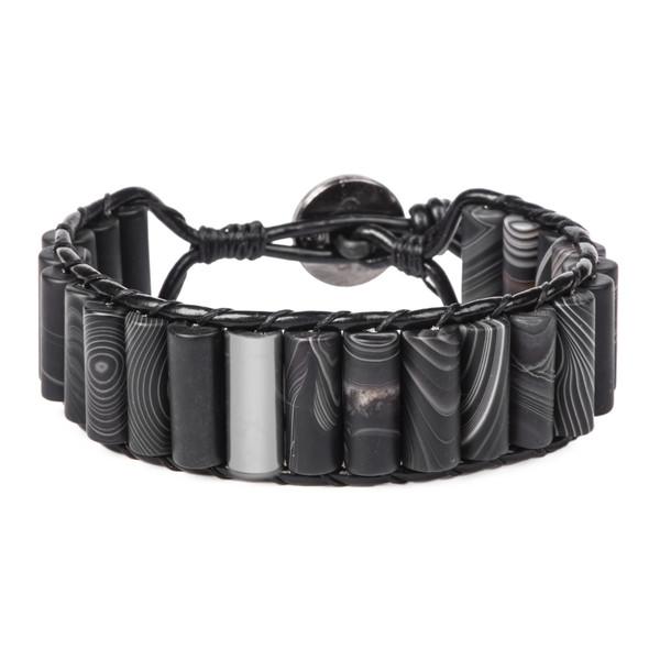 دستبند نقره مردانه ریسه گالری مدل H1300
