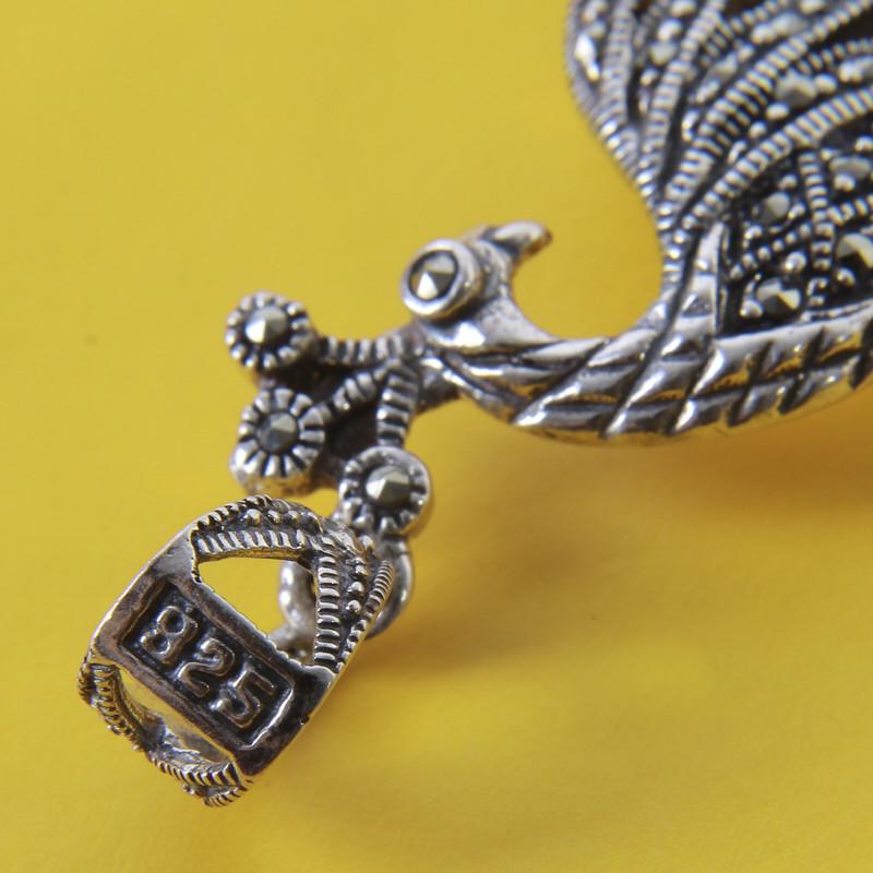آویز گردنبند نقره زنانه بازرگانی میلادی کد PK_031