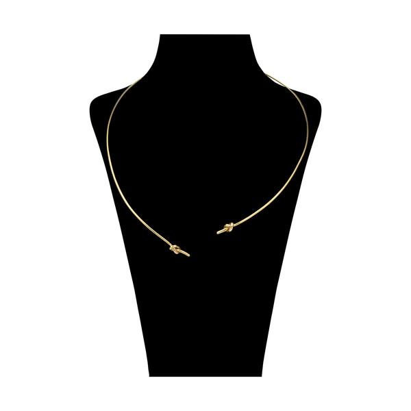 گردنبند طلا 18 عیار زنانه سنجاق مدل x026205