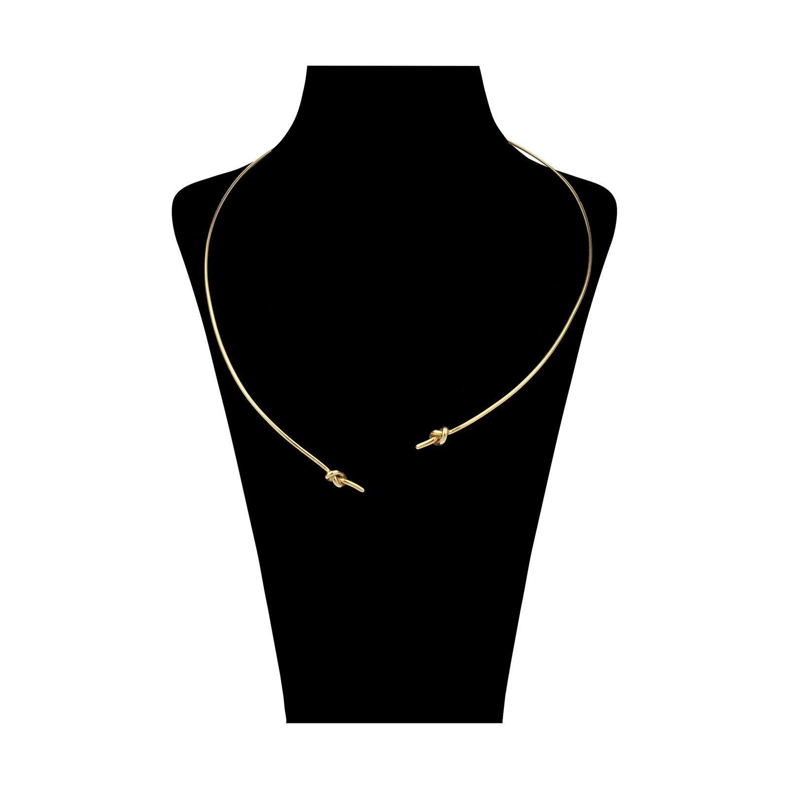 گردنبند طلا 18 عیار زنانه سنجاق مدل x026205 -  - 1