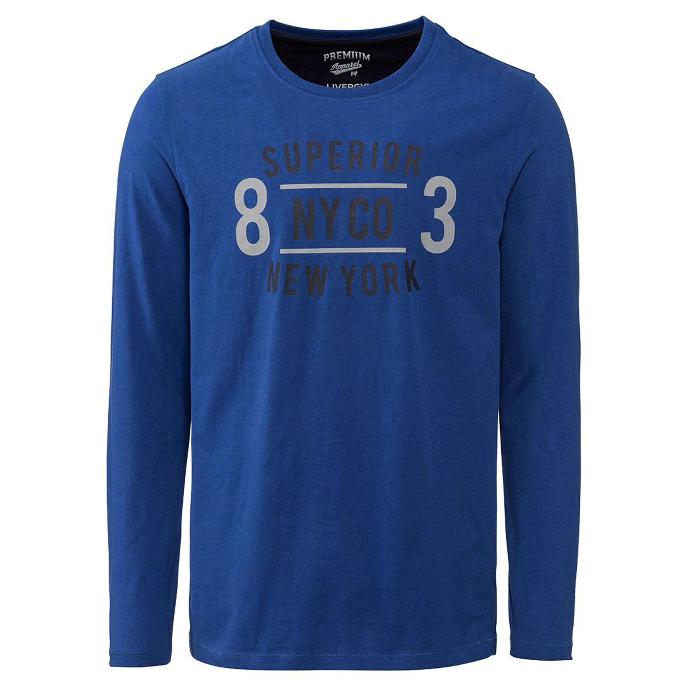تی شرت آستین بلند مردانه لیورجی مدل lu456