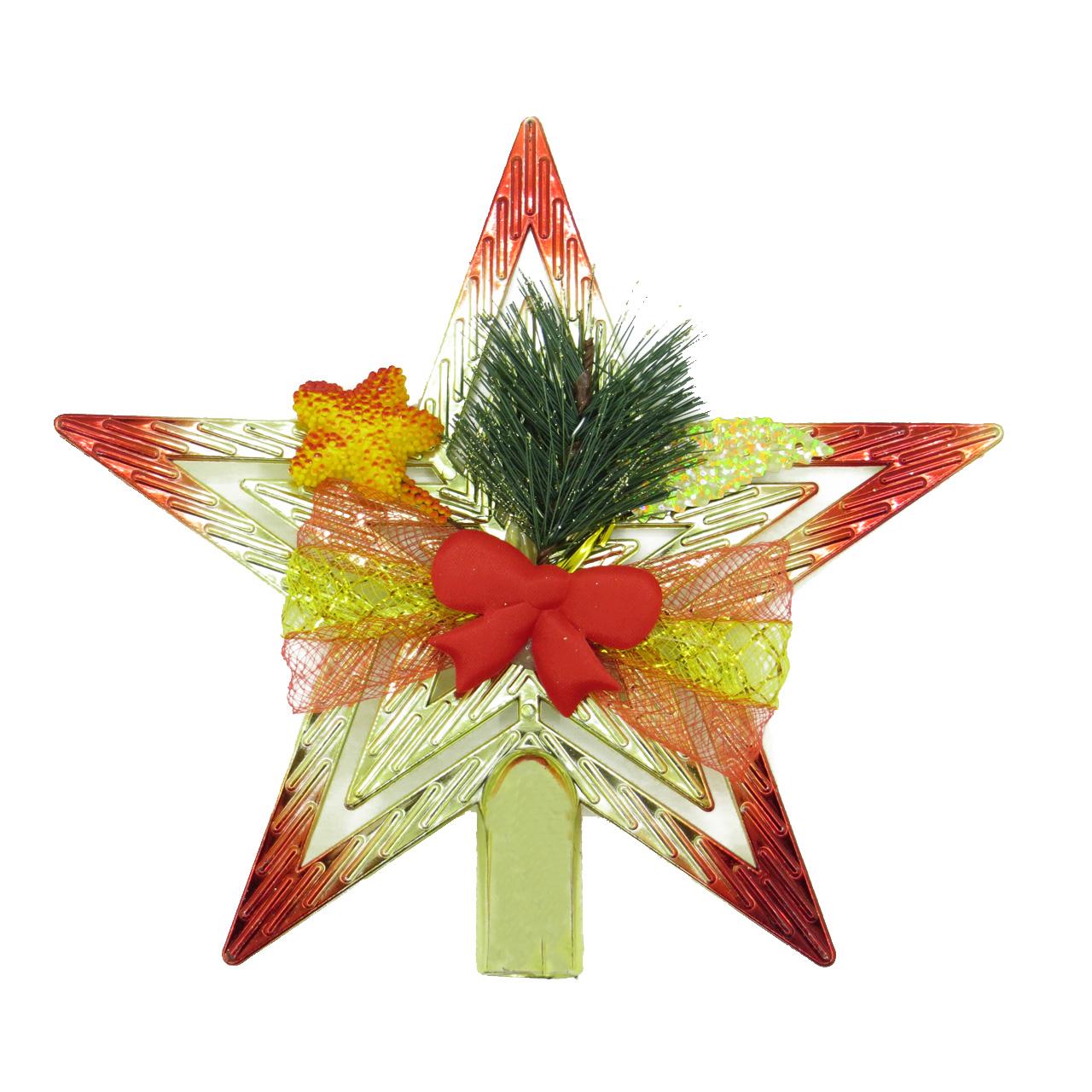 آویز تزیینی مدل ستاره درخت کریسمس