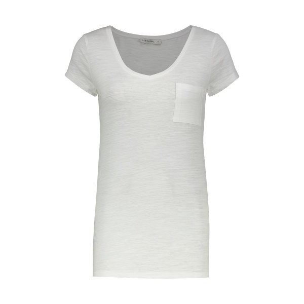 تی شرت زنانه ال سی وایکیکی مدل 0SI073Z8-E5X-OPTICWHITE