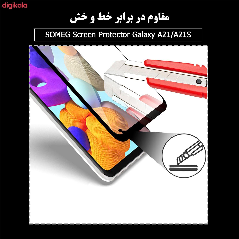 محافظ صفحه نمایش سرامیکی سومگ مدل Ruby-9 مناسب برای گوشی موبایل سامسونگ Galaxy A21 / A21s main 1 2