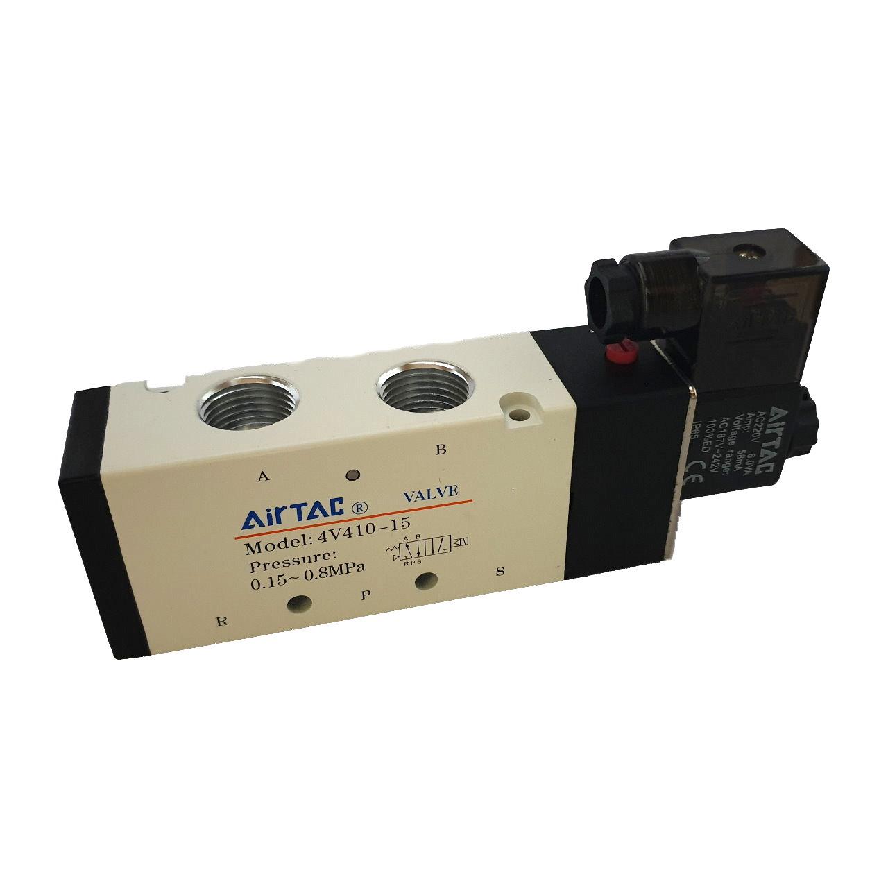 شیر برقی پنوماتیک ایرتک مدل 4v-410-15-220v