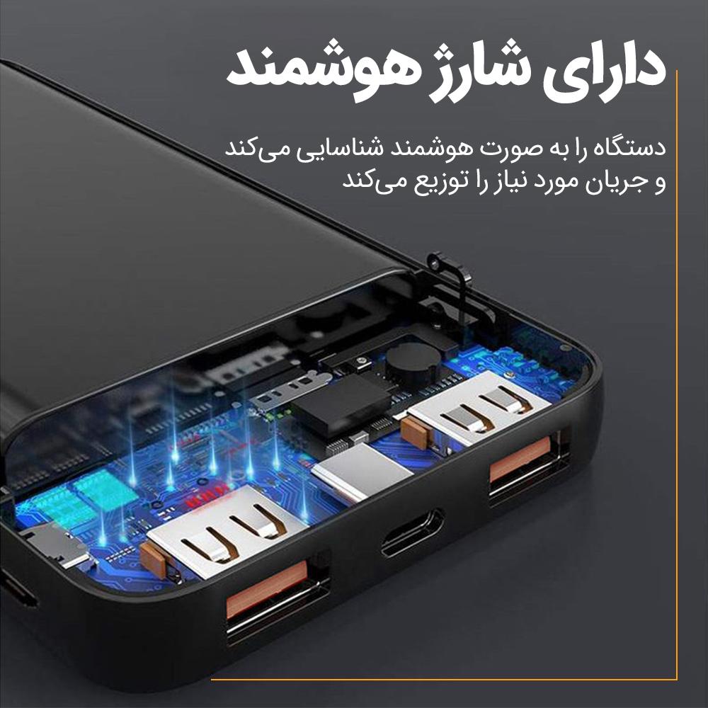 شارژر همراه تاپیکس مدل TP-90 ظرفیت 20000 میلی آمپر ساعت main 1 2