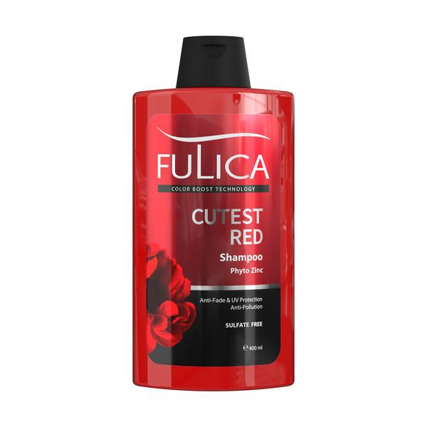 شامپو تثبیت کننده رنگ مو فولیکا مدل CUTEST RED حجم 400 میلی لیتر