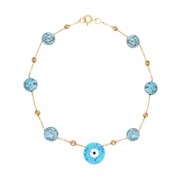 دستبند طلا 18 عیار زنانه گالری مرجان مدل 1087