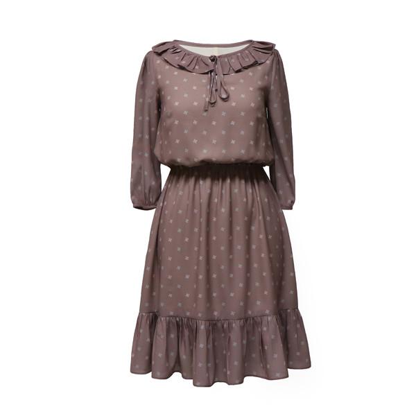 پیراهن زنانه دِرِس ایگو کد 1010034 رنگ شکلاتی