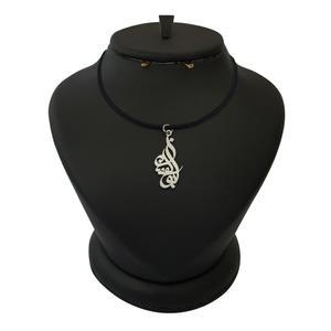 گردنبند نقره مردانه ترمه 1 طرح ابوالفضل کد mas 0072