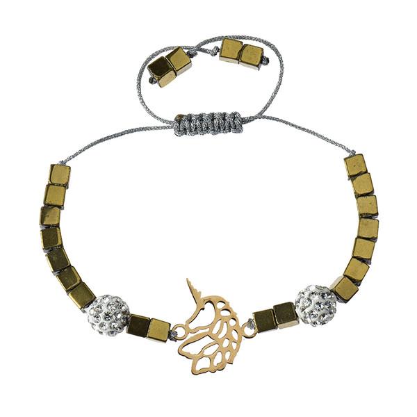 دستبند طلا 18 عیار دخترانه کرابو طرح اسب شاخدار مدل Krd1001