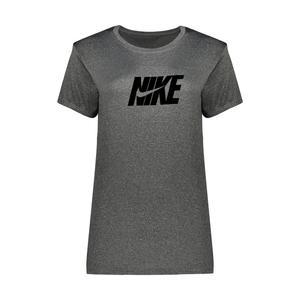 تی شرت ورزشی دخترانه مدل Q300 رنگ ذغالی