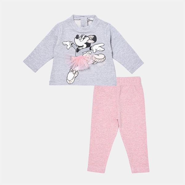 ست تیشرت و شلوار نوزادی فیورلا مدل مینی دامنی کد 21529