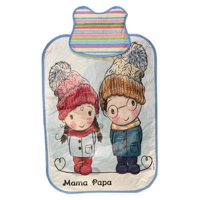 زیرانداز تعویض نوزاد ماما پاپا مدل دختر و پسر برفی کد 10