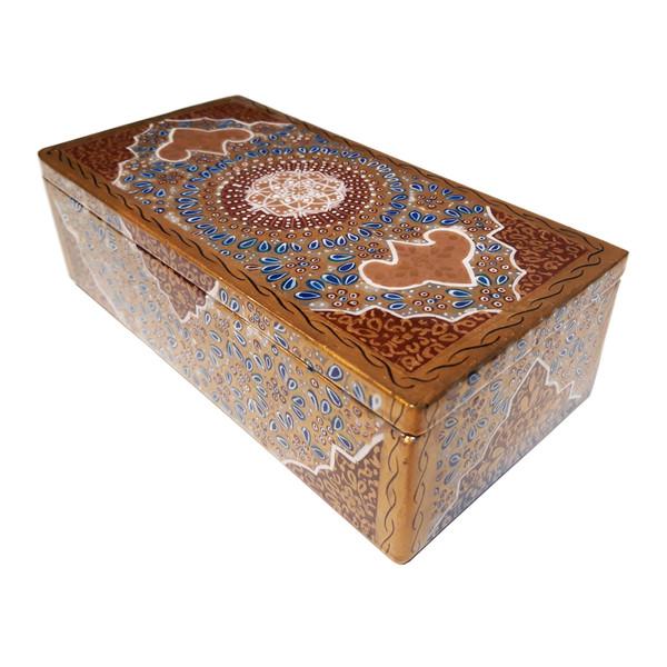 جعبه سنگ مرمر طرح تذهیب فرشی مدل 302010-3