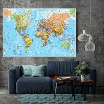 پوستر نقشه جهان مدل PO1292