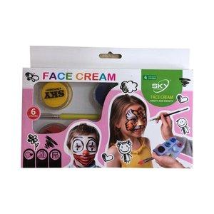 رنگ گریم صورت اسکی مدل cream 21 بسته 6 عددی