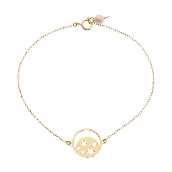 دستبند طلا 18 عیار زنانه نیوانی مدل B1009