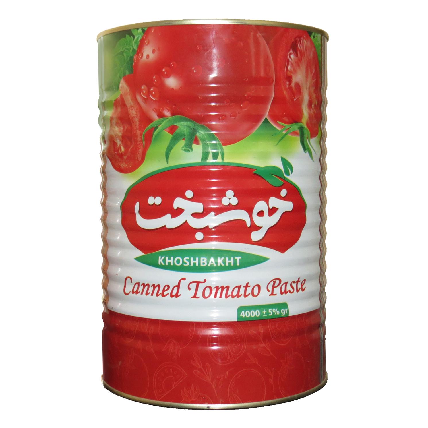 رب گوجه فرنگی خوشبخت - 4000 گرم