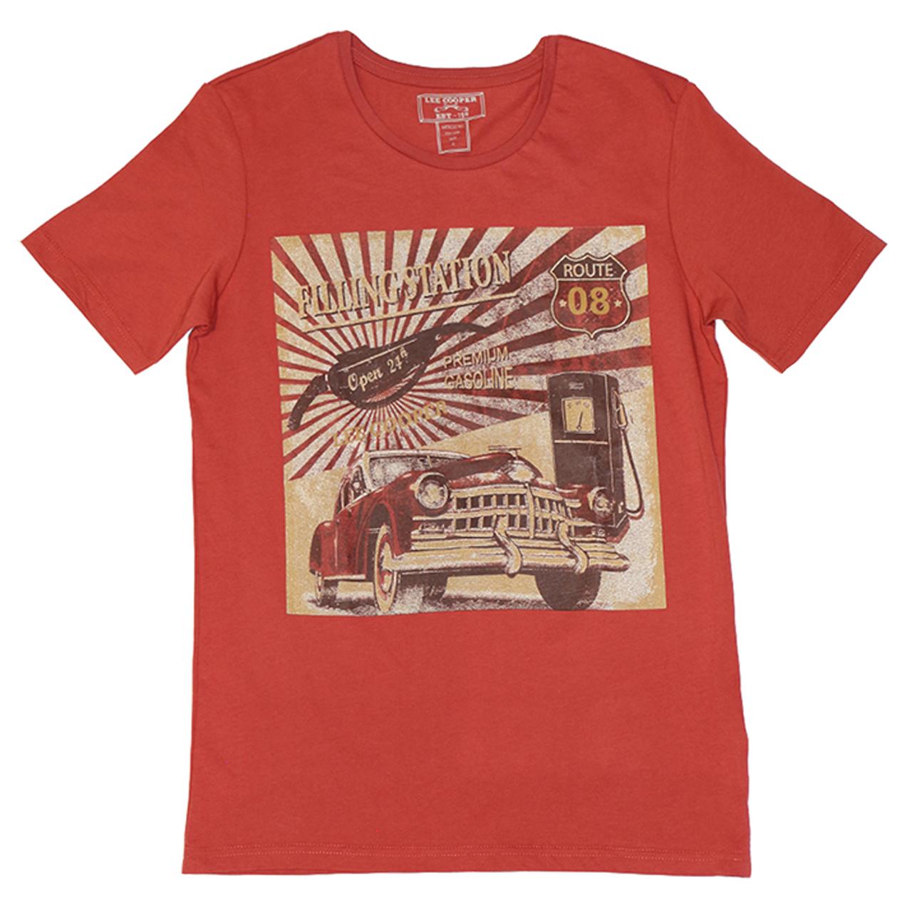 تی شرت مردانه لی کوپر مدل Filling Car