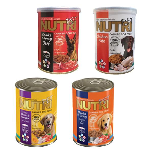 کنسرو غذای سگ نوتری پت مدل  Pack 1 وزن 425 گرم مجموعه 4 عددی