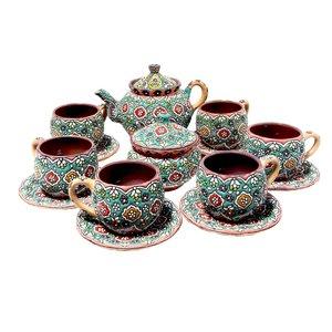 سرویس چای خوری میناکاری 14 پارچه کد 3-4
