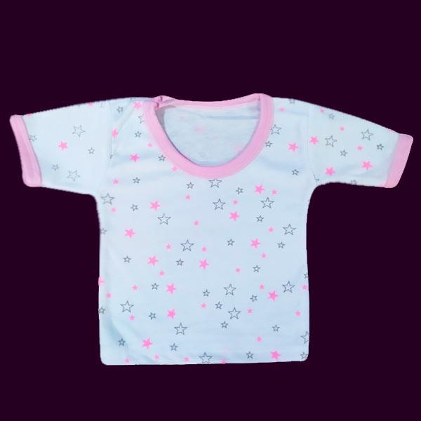 تی شرت آستین کوتاه نوزادی مدل Star-P