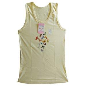 تاپ دخترانه فرشید طرح پروانه کد 30538 رنگ لیمویی