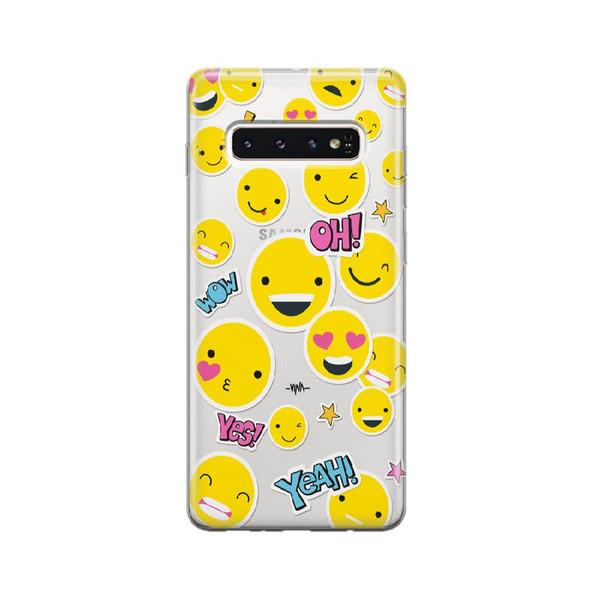 کاور وینا مدل Emojis مناسب برای گوشی موبایل سامسونگ Galaxy S10Plus