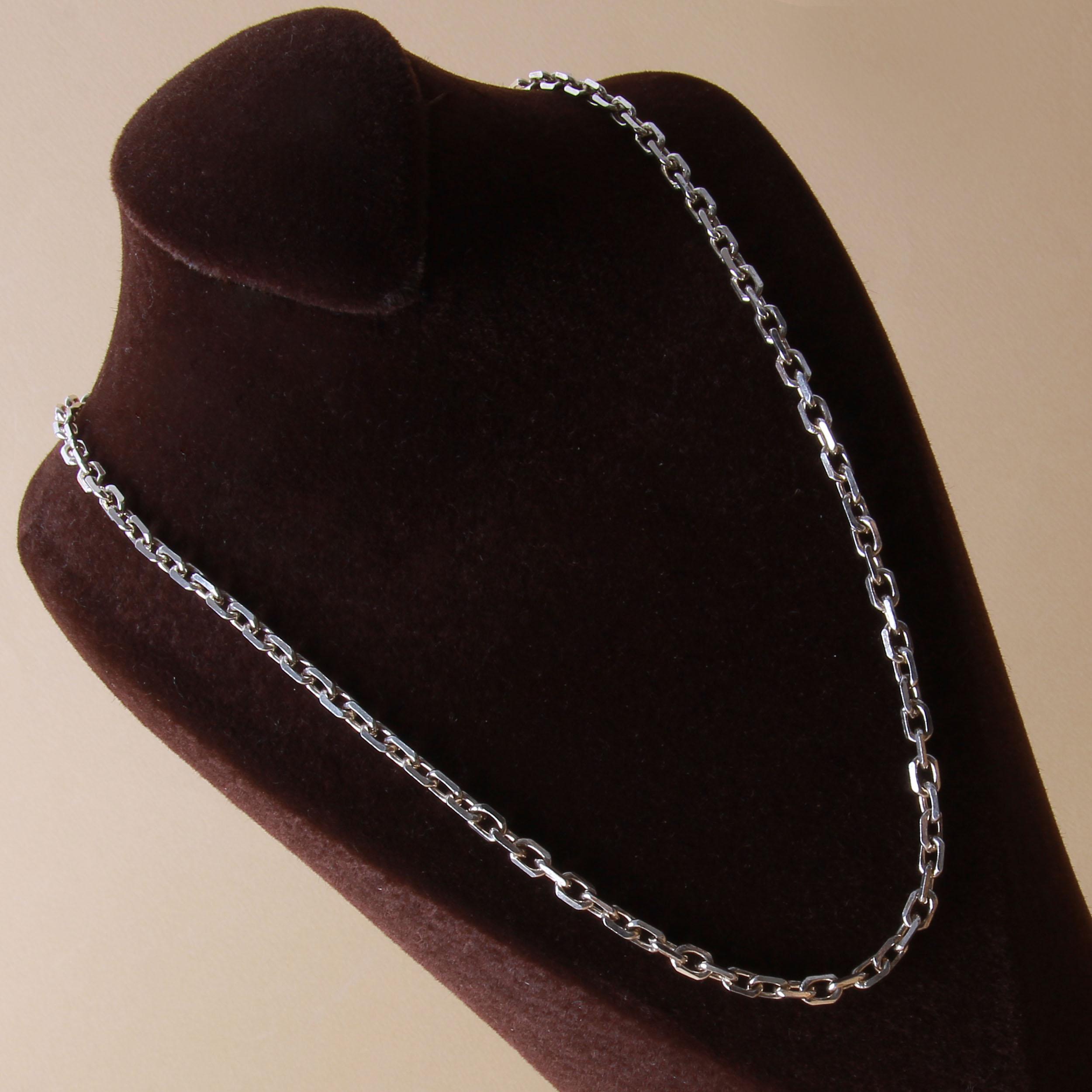 زنجیر نقره مردانه بازرگانی میلادی  کد  ZR_019