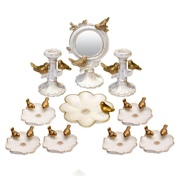 مجموعه ظروف هفت سین 10 پارچه مدل پرنده