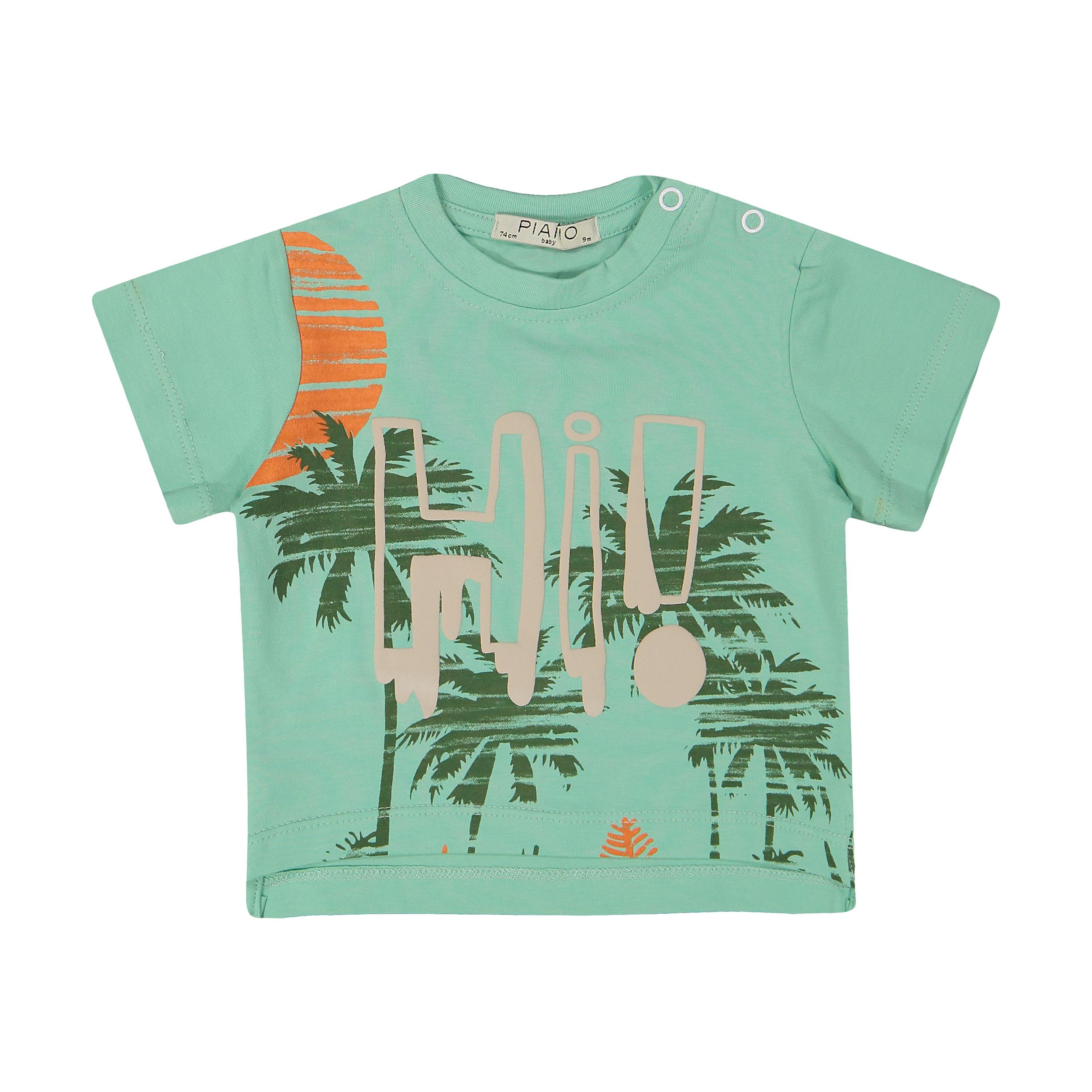 تی شرت نوزادی پسرانه پیانو مدل 01512-53