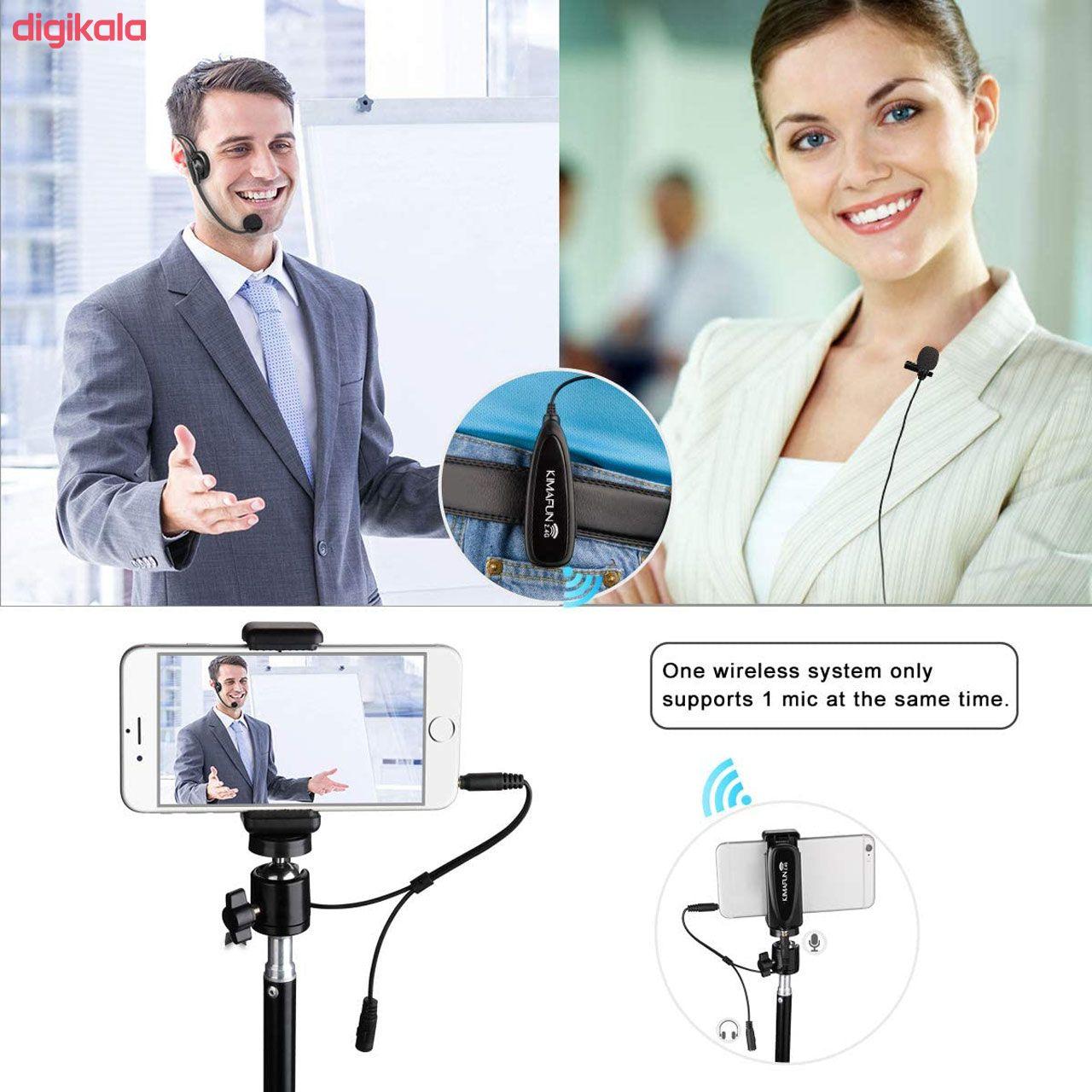 میکروفون بی سیم کیمافون مدل KM-G102-3 main 1 11