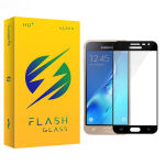 محافظ صفحه نمایش شیشه ای فلش مدل +HD مناسب برای گوشی موبایل سامسونگ galaxy J3 Pro