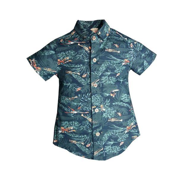 پیراهن پسرانه مدل هاوایی کد 17656