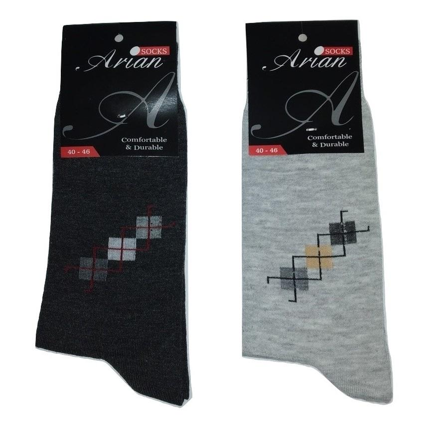 جوراب مردانه آرین کد ۳ مجموعه ۶ عددی -  - 3