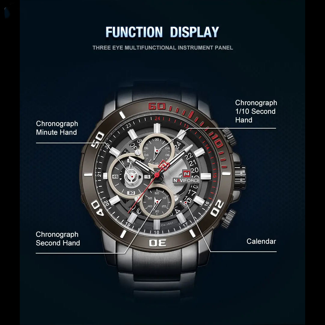 ساعت مچی  مردانه نیوی فورس مدل NF9174M -B