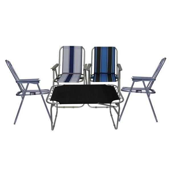 میز و صندلی سفری مدل x5 مجموعه پنج عددی