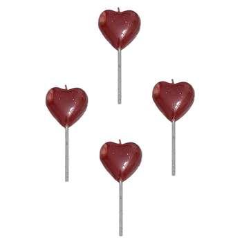 شمع تولد مدل قلب کد 333 بسته 4 عددی