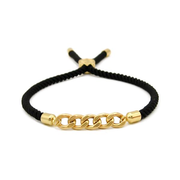 دستبند طلا 18 عیار زنانه مانچو کد bfg211