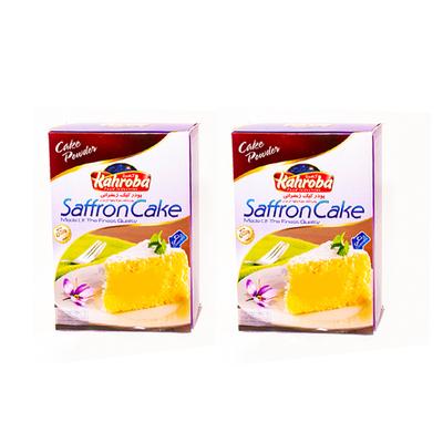 پودر کیک زعفرانی کهربا بسته دو عددی