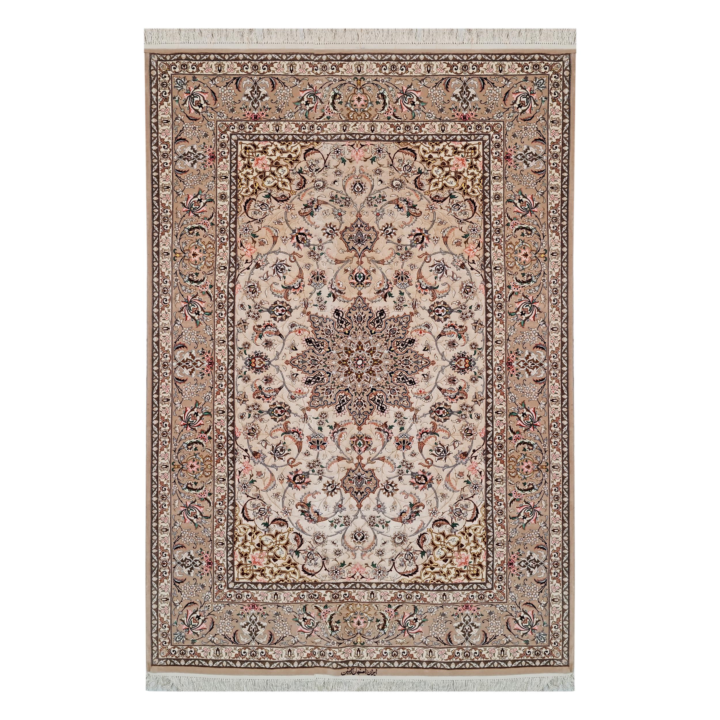 فرش دستبافت سه و نیم متری اصفهان آبتین کد 346