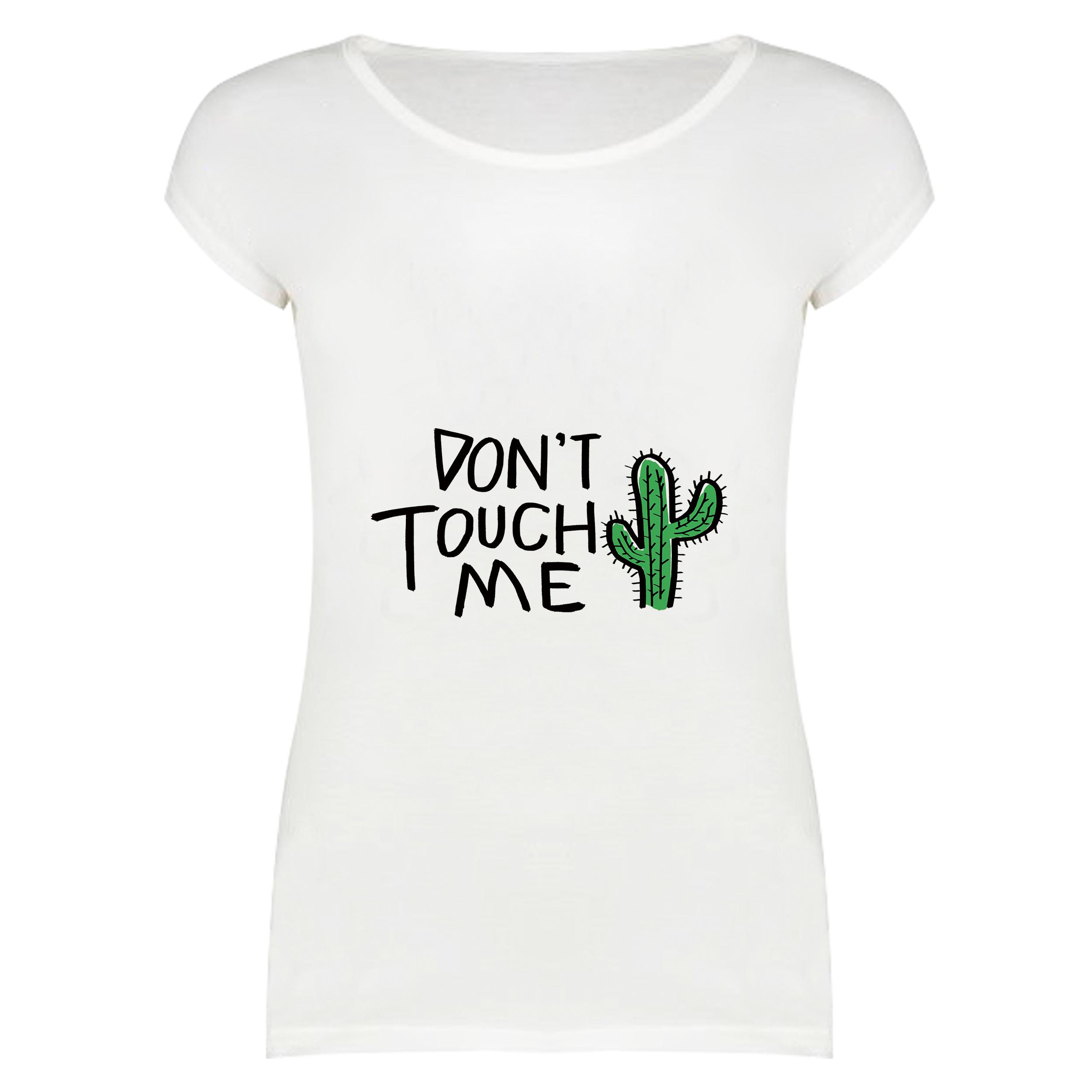 تی شرت آستین کوتاه زنانه مدل به من دست نزن کد f1467z