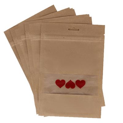 پاکت زیپ دار مدل قلب بسته ۱۵ عددی