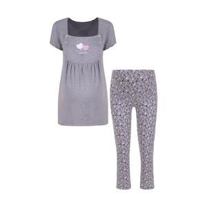 ست تی شرت و شلوار بارداری ناربن مدل 1521437-90